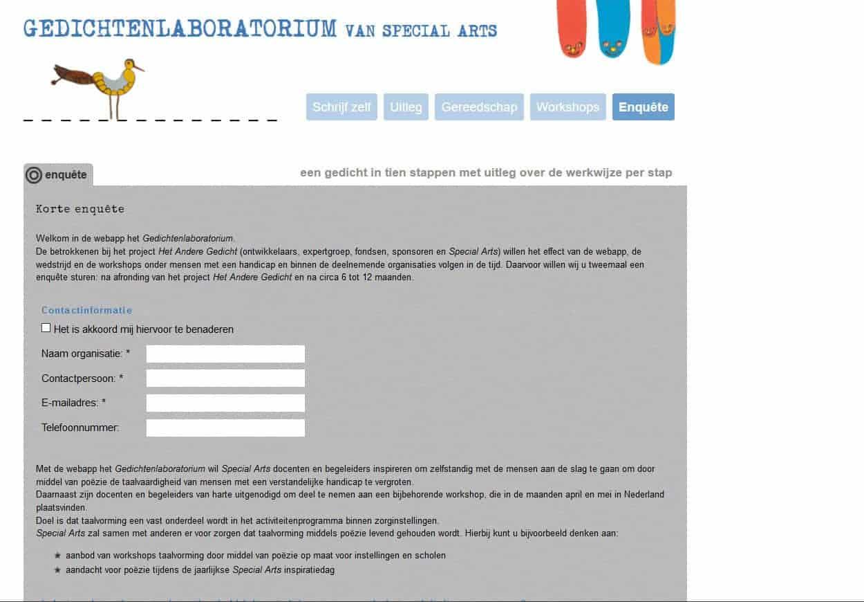 Gedichtenlaboratorium Blindeman Websites