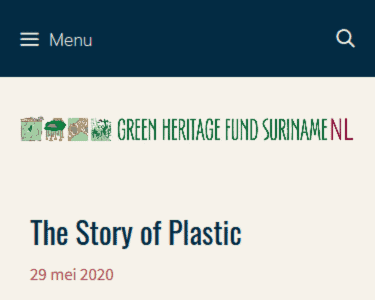 Mobile view of the website for the Green Heritage Fund Suriname in the Netherlands