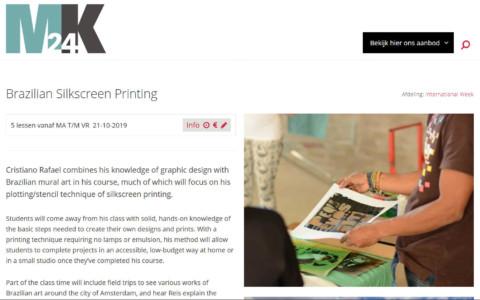 Screenshot van een cursuspagina