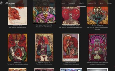 Screenshot van afbeeldingsgalerij met ali Myer's kunst