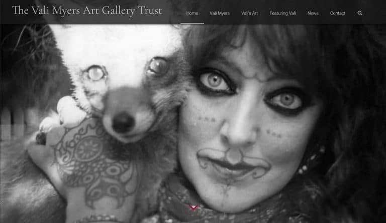 Screenshot van de home pagina van valimyersturst.com